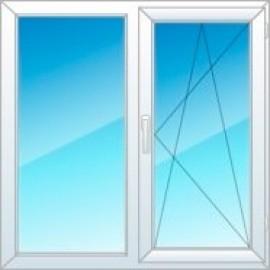 Двухстворчатое окно KBE Expert, среднеценовая категория