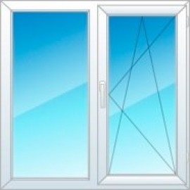 Окно духстворчатое REHAU Sib-Design