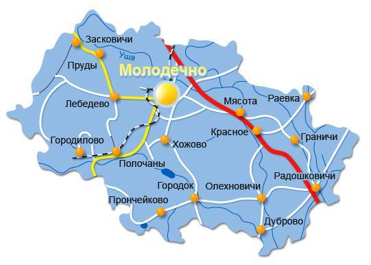 Молодечненский район, карта